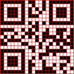 """QR-Code com linhas dividindo e evidenciando cada um dos """"quadradrinhos"""""""